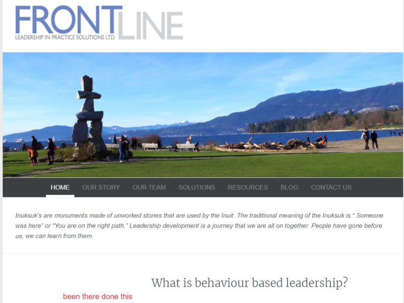 Frontline Leadership website